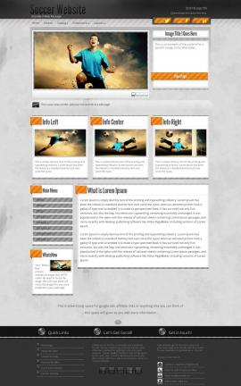 Innovation Soccer Website Template