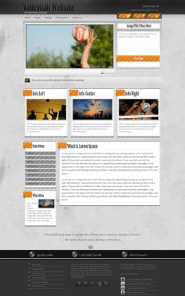 Innovation Volleyball Website Template