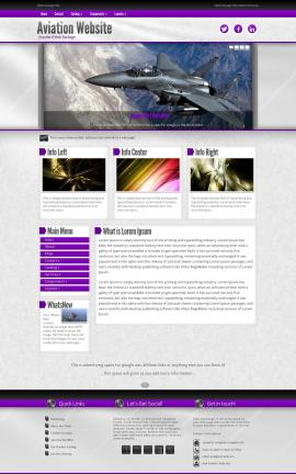Impression Aviation Website Template