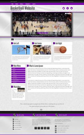 Impression Basketball Website Template