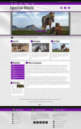 Impression Equestrian Website Template