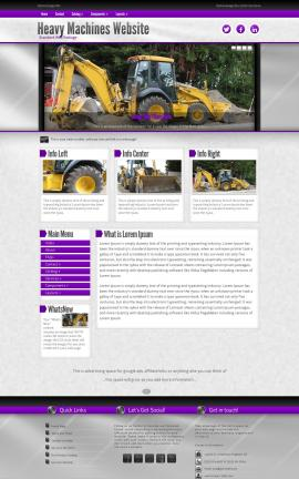 Impression Heavy-machines Dreamweaver Template