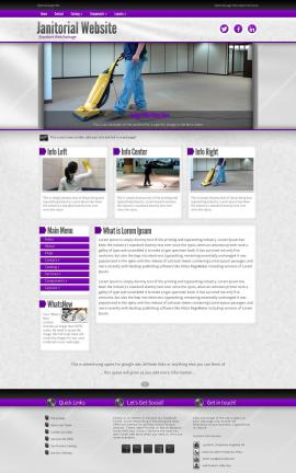 Impression Janitorial Website Template
