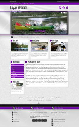 Impression Kayak Website Template