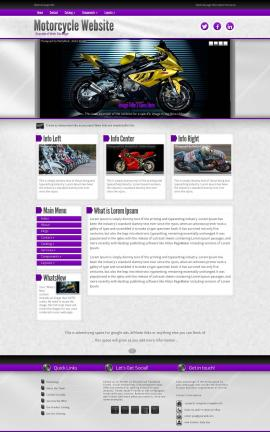 Impression Motorcycle Dreamweaver Template