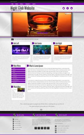 Impression Night-club Website Template