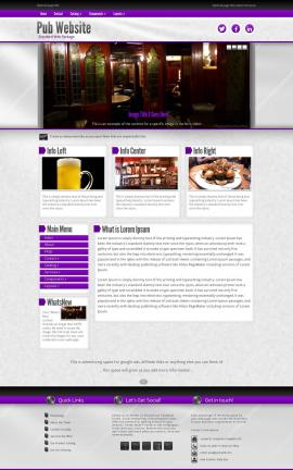 Impression Pub Website Template