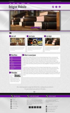 Impression Religion Website Template
