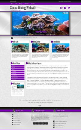 Impression Scuba-diving Website Template