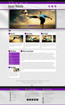 Impression Soccer Website Template