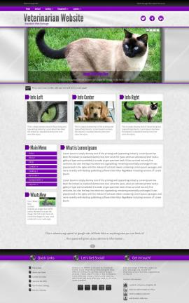 Impression Veterinarian Website Template