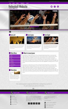 Impression Volleyball Website Template