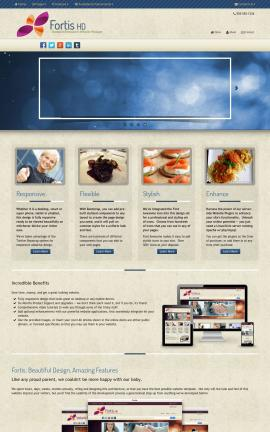 Fortis Restaurant Website Template