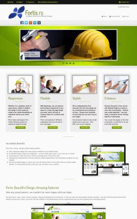Fortis Construction Website Template
