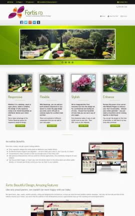 Fortis Landscaping Website Template