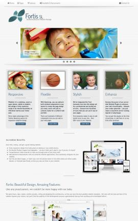 Fortis Education Website Template