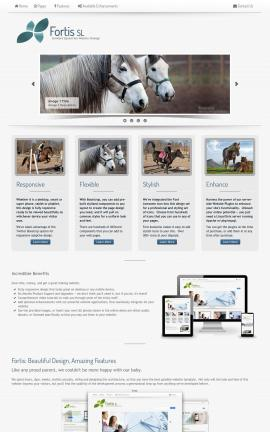 Fortis Equestrian Website Template