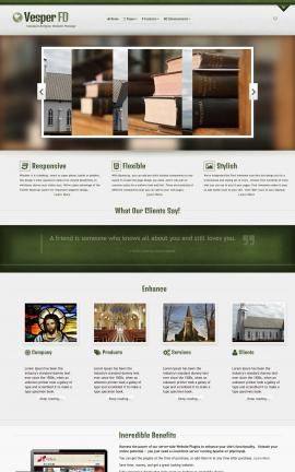 Vesper Religion Website Template