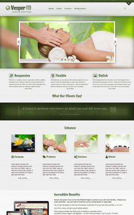 Vesper Spa Dreamweaver Template