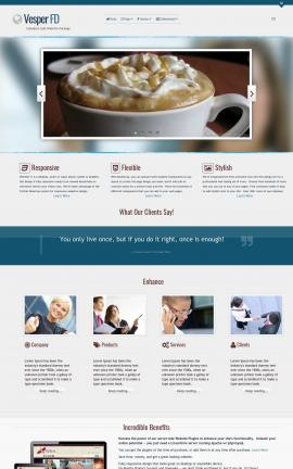 Vesper Cafe Website Template