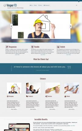 Vesper Construction Dreamweaver Template