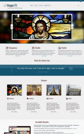 Vesper Religion Web Template