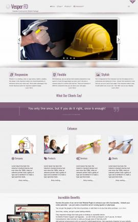 Vesper Construction Website Template