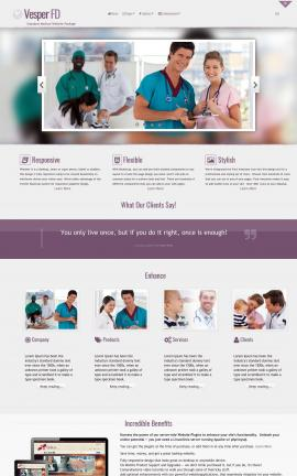 Vesper Medical Dreamweaver Template