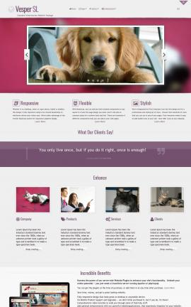 Vesper Veterinarian Website Template