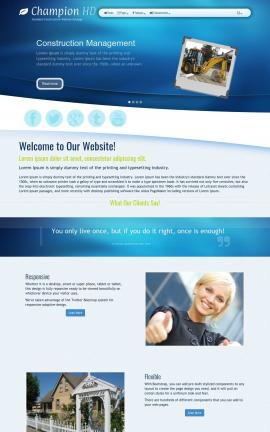 Champion Construction Website Template