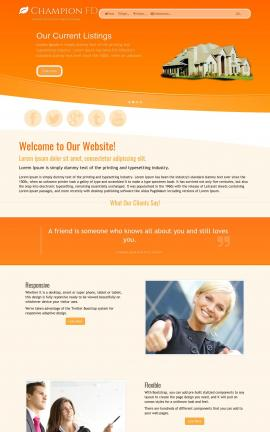 Champion Real-estate Dreamweaver Template