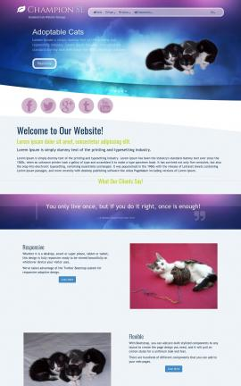 Champion Cats Website Template