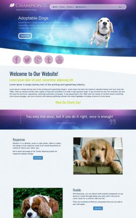 Champion Dogs Website Template
