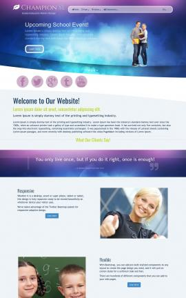 Champion Education Website Template