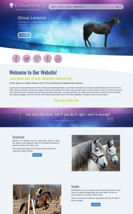 Champion Equestrian Website Template