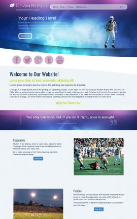 Champion Football Website Template