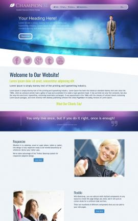 Champion Insurance Website Template