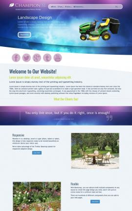 Champion Landscaping Website Template