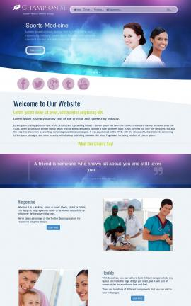 Champion Medical Website Template