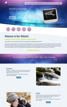 Champion Photography Website Template