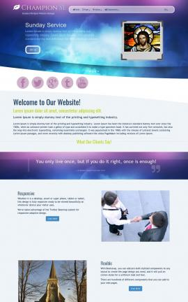 Champion Religion Website Template