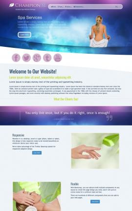Champion Spa Website Template