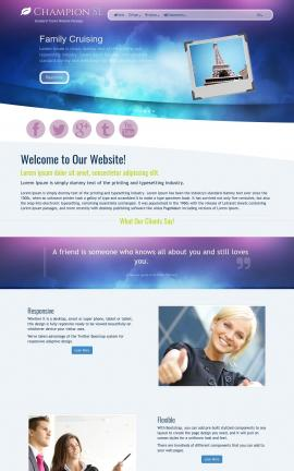 Champion Travel Website Template
