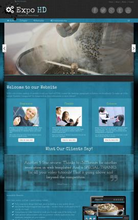 Expo Cafe Dreamweaver Template