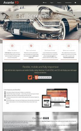 Avante Automobile Website Template
