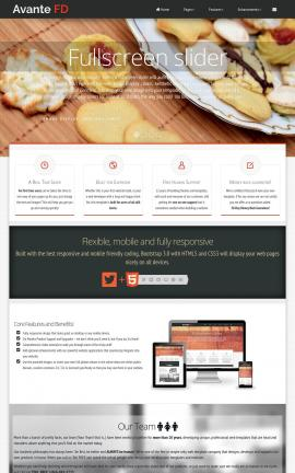 Avante Bakery Website Template