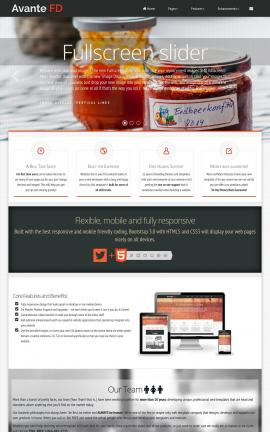 Avante Bed-and-breakfast Website Template