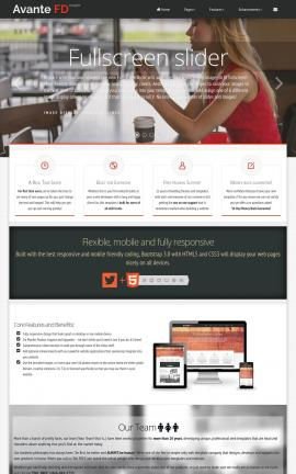 Avante Cafe Website Template