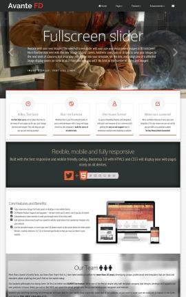 Avante Construction Website Template