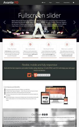 Avante Dance Dreamweaver Template